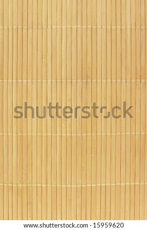 Close up of Chinese bamboo mat background - stock photo