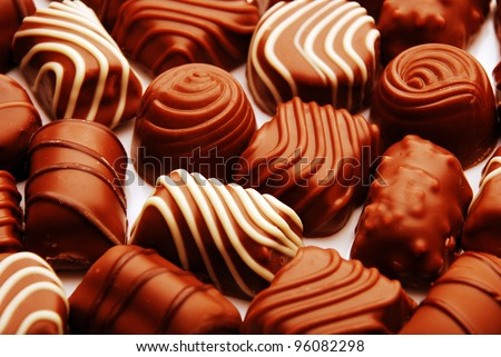 stock photo : close-up of chocolate bon bons