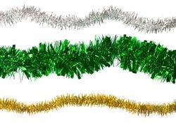 close up of Christmas decoration on white background