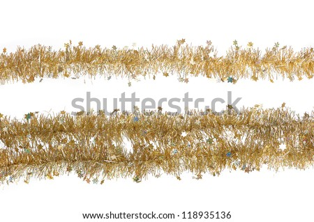 Close up of Christmas decoration on white background