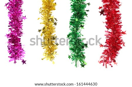 Close up of Christmas decoration. On white background