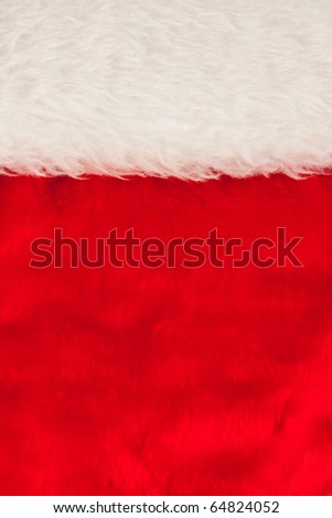 Close-up of Christmas hat. Background or texture