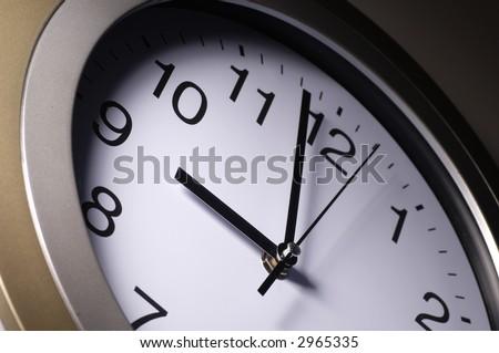 Close up of clock hands