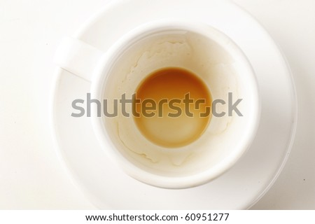 close up of coffee cup