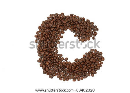 close up of coffee seed in font and pattern.