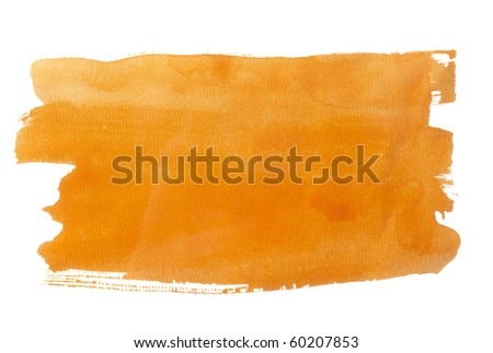 close up of  color strokes on white background  with clipping path