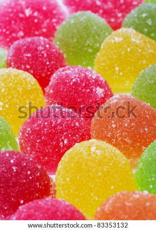 Close-up of Colorful Candies, full frame.