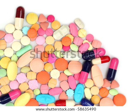 Close up of colorful tablets and capsules