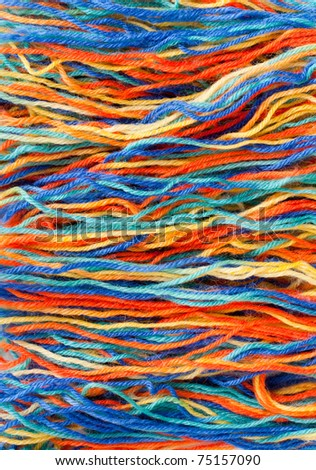 Close-up of colorful threads. Use for background or texture