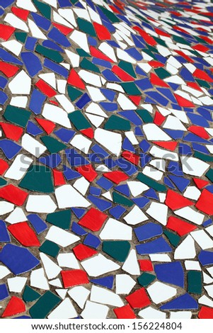 Close up of colorful tiles, texture background