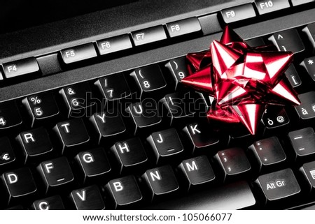 close-up of computer holiday gift idea