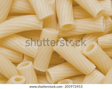 close up of cooked maccheroni pasta tubes food texture background