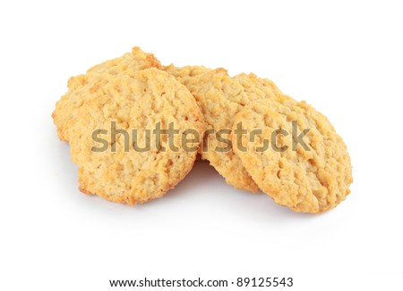 close up of cookies on white table