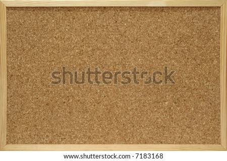 close-up of cork board
