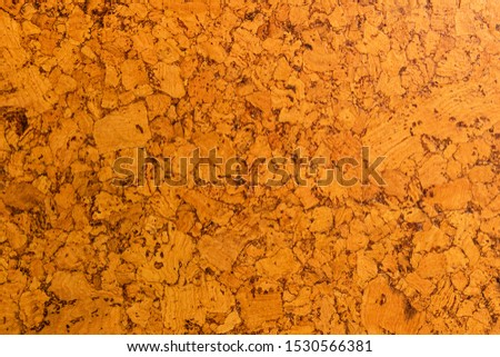 Close-up of cork sound insulation lagging of carrot color for floors and walls