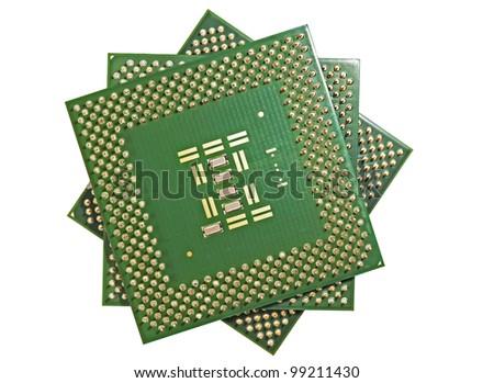 close up of cpu processors