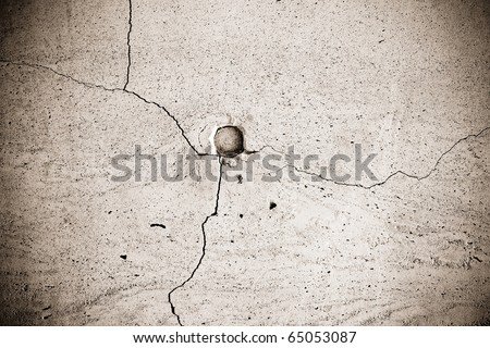 Close up of crack grunge wall for texture