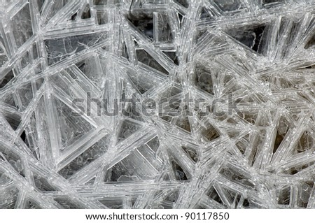 Close up of cracking ice