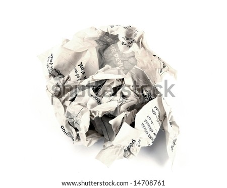 close-up of crumpled paper