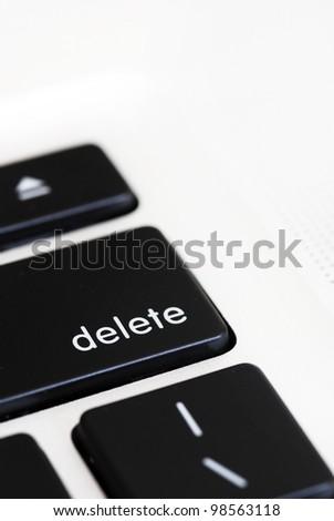 Close up of 'delete' computer key - stock photo