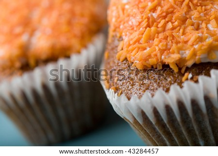 Close-up of delicious fresh carrot cakes