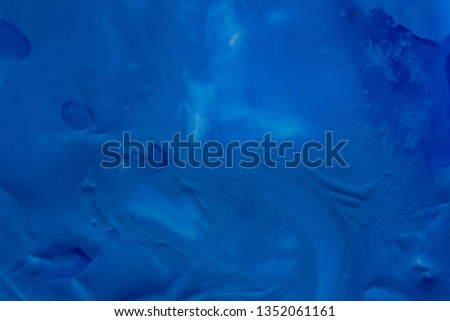 Close up of different color oil paint, Patterns or backgrounds of various colors, colors on the fabric.  #1352061161
