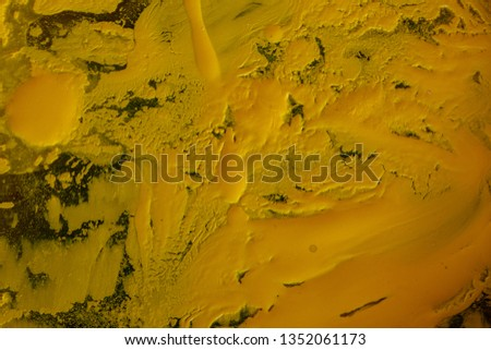 Close up of different color oil paint, Patterns or backgrounds of various colors, colors on the fabric.  #1352061173