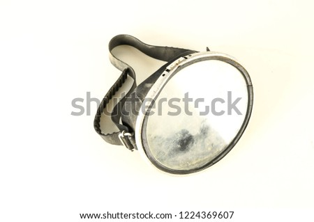 Close-up of diving scuba mask #1224369607