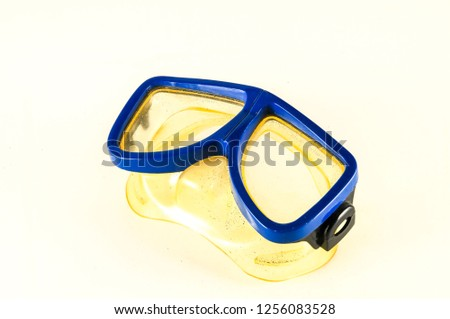 Close-up of diving scuba mask #1256083528