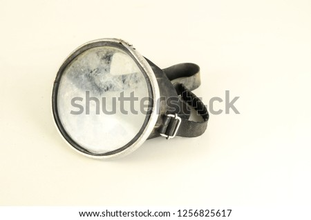 Close-up of diving scuba mask #1256825617