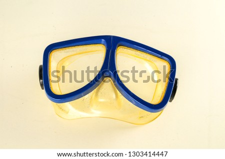 Close-up of diving scuba mask #1303414447