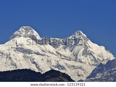 close up of dome shaped Himalayan peak