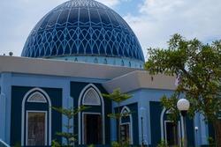 Close up of Dompak Mosque in Tanjung Pinang.