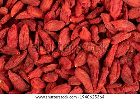 close up of dried Chinese wolfberries Stock photo ©