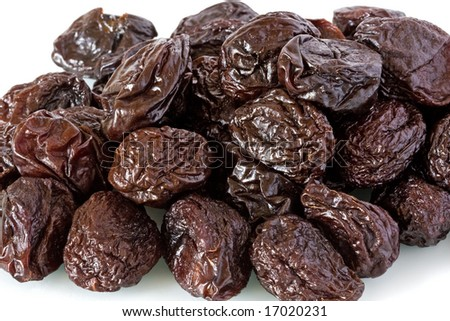 Close-up of dried prunes or plums