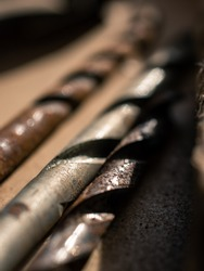 Close up of drill bits