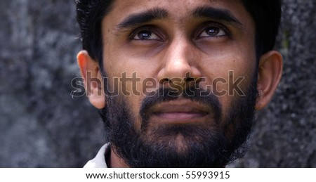 Close up of eastern Arabian young man