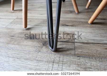close up of eiffel chair legs...