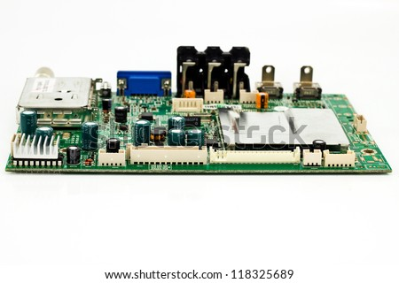 close-up of electronic circuit