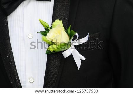 Close-up of elegance man cufflink