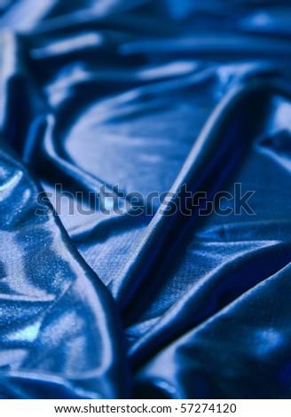 Close-up of elegant and soft fabric fold