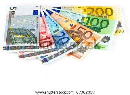 close up of euro currency. cash banknotes. money background