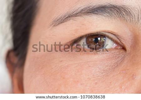 Close up of eye Asian woman #1070838638