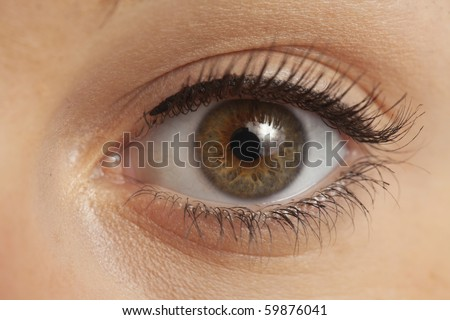 Close up of eye on woman