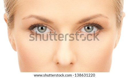 close up of face of beautiful young woman
