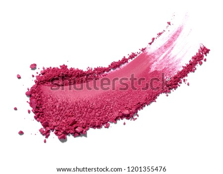 close up of face powder on white background #1201355476