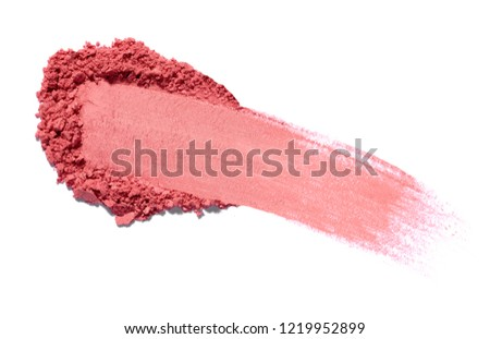 close up of face powder on white background #1219952899