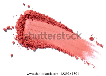 close up of face powder on white background #1239361801
