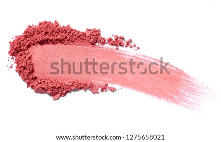 close up of face powder on white background #1275658021
