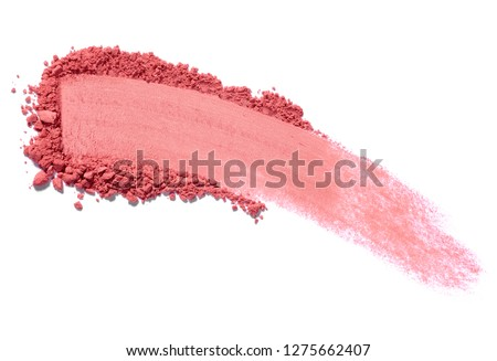 close up of face powder on white background #1275662407